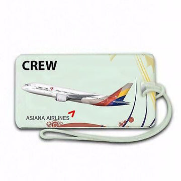 NOVELTY   asiana airlines  Airline  Luggage tag  Crew .airports .airline crew