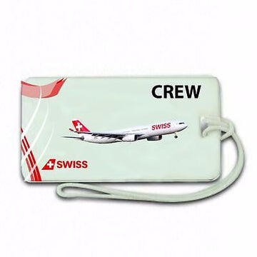 NOVELTY   Swiss Air  Airline  Luggage tag  Crew .airports .airline crew