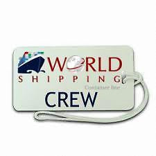 World  Shipping Container  ship Crew  Luggage  Tag NEW