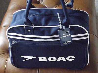 BOAC Retro hand  bag   Bag .NEW includes novelty luggage tags James bond