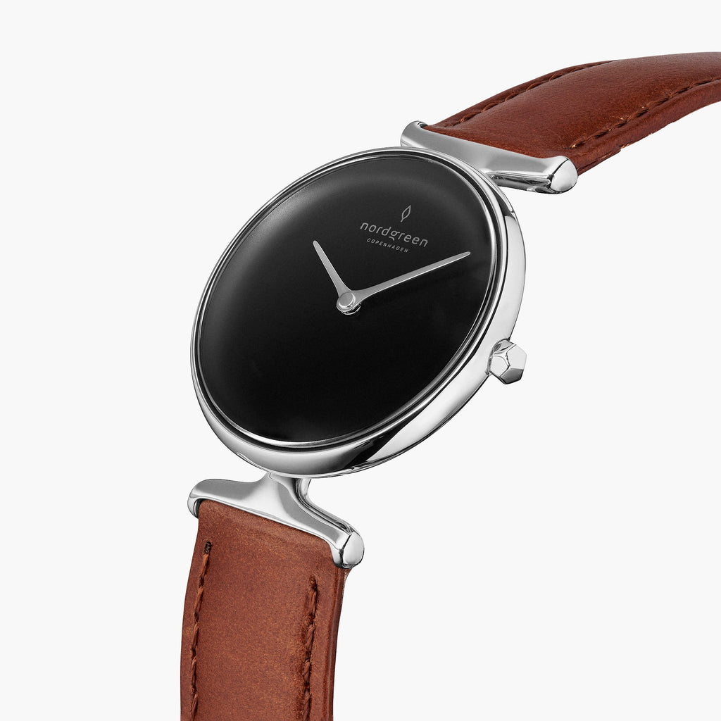 Unika | Black Dial - Brown Leather