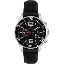 Rotary AGS00050-C-04 Mens Aquaspeed Chronograph Black Dial Black Leather Strap Watch