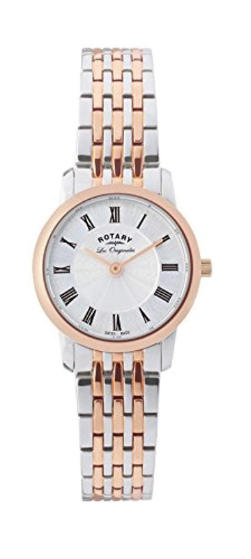 Rotary-LB90018/06 Women's Quartz Analogue Watch-Stainless Steel Strap Multicoloured