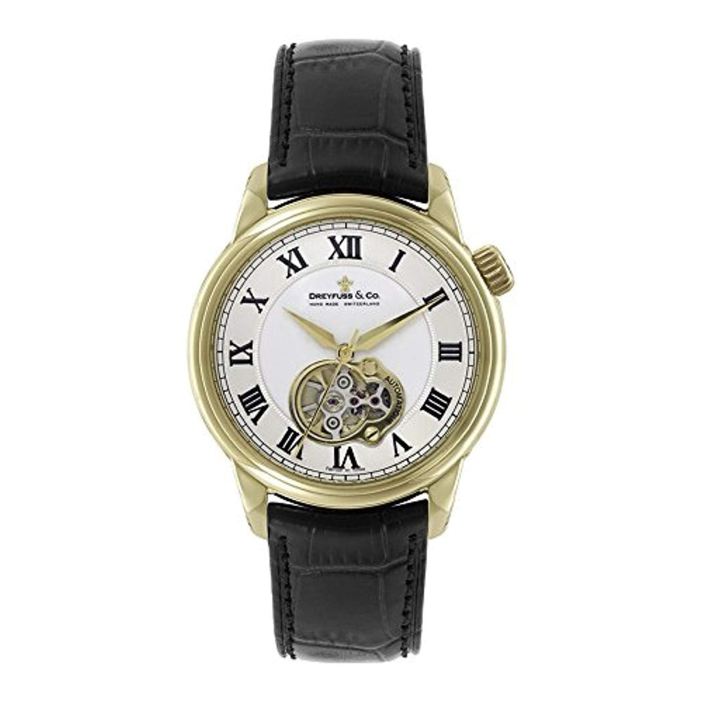 Mens Dreyfuss Co 1925 Open Heart Automatic Watch DGS00092/01