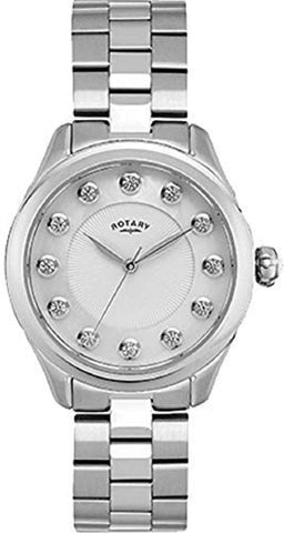 Rotary Ladies Analogue Stainless Steel Bracelet Watch with Sunray Mother of Pearl Dial LB00304/41