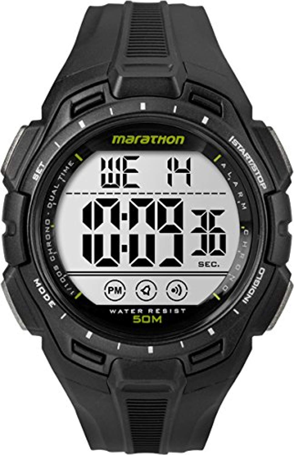 Timex Marathon Men's Watch with LCD Dial Digital Display and Resin Strap