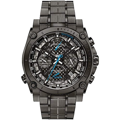 Men's Bulova Designer Chronograph Watch Stainless Steel Wristwatch