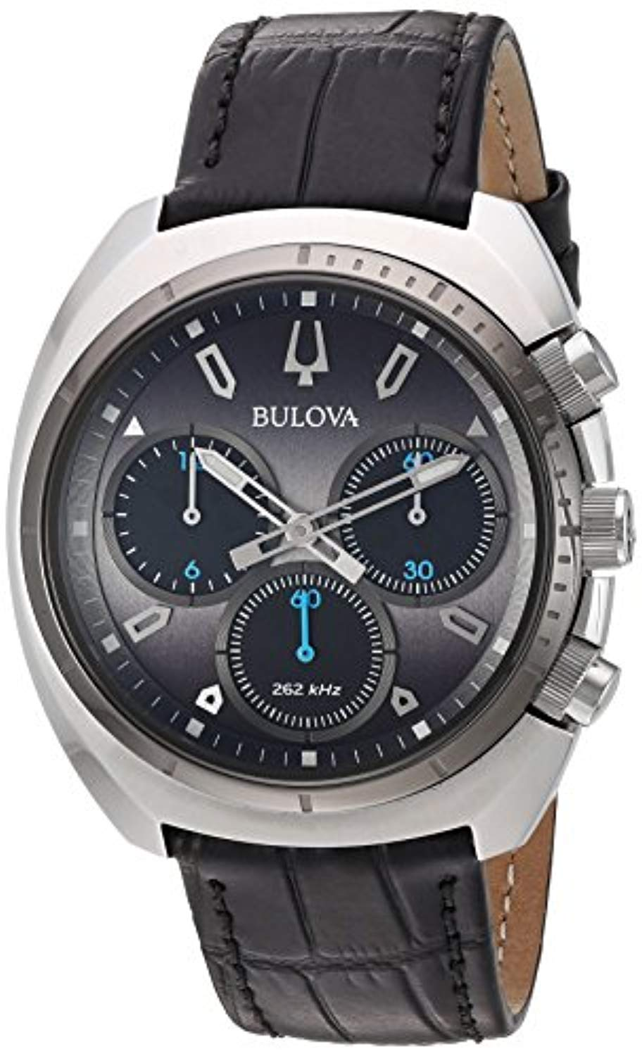 Bulova Men's Curv Quartz Stainless Steel Leather Strap Watch 2018