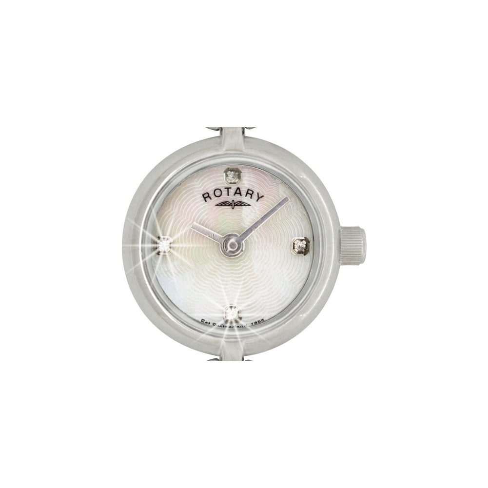 Rotary LB02536-41 Ladies Round White MOP Dial Bracelet Watch