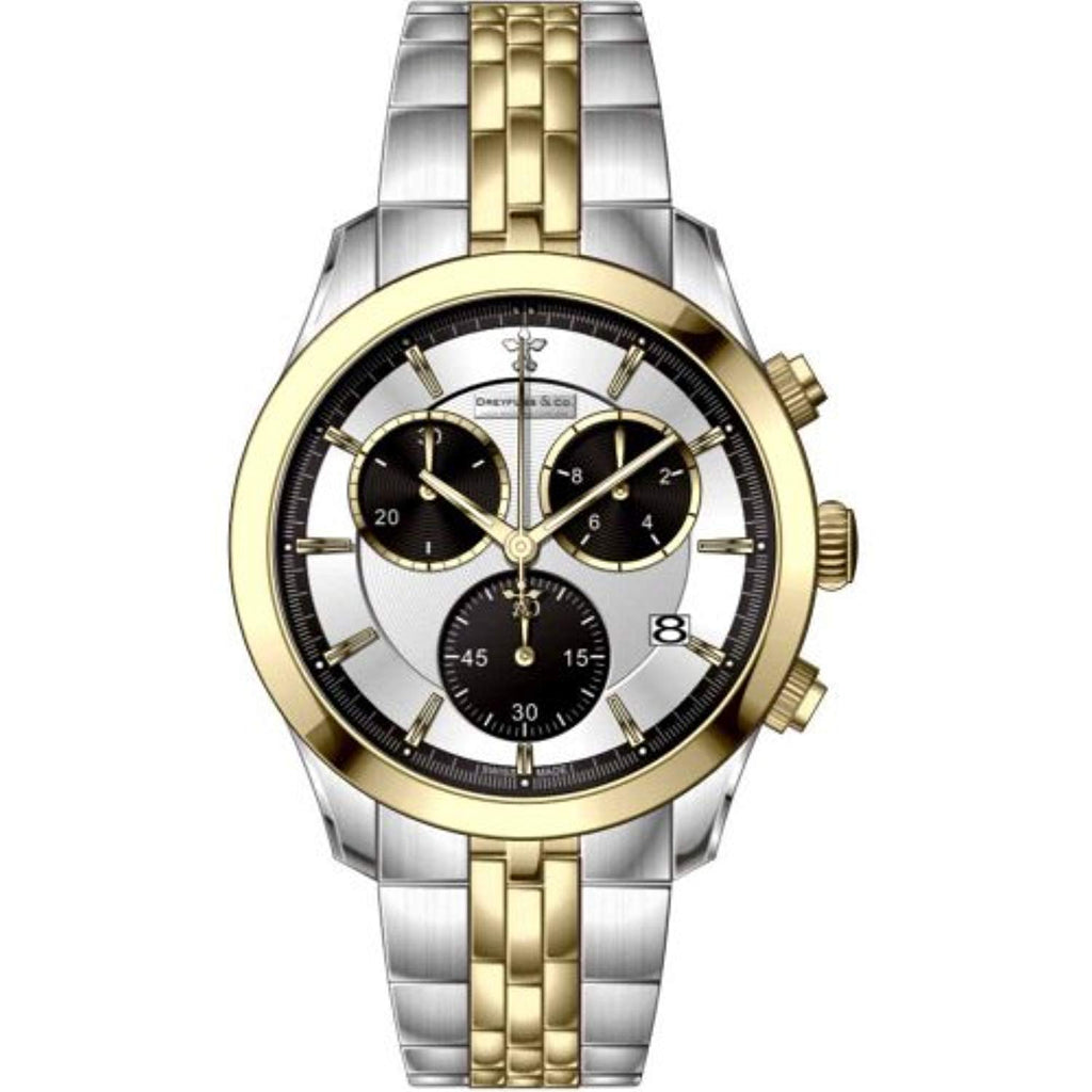 Dreyfuss Mens Chronograph Quartz Watch with Stainless Steel Strap DGB00063/06