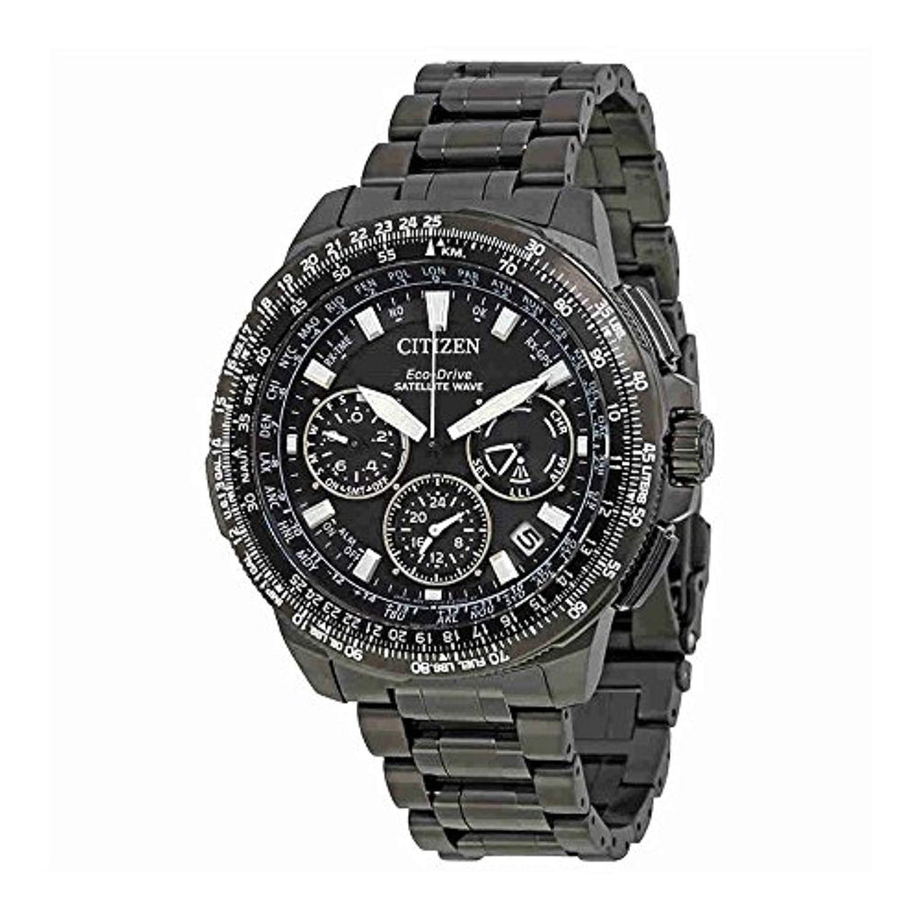 Citizen Men's 'Navi Series' Quartz Titanium Casual Watch, Color:Black (Model: CC9025-85E)