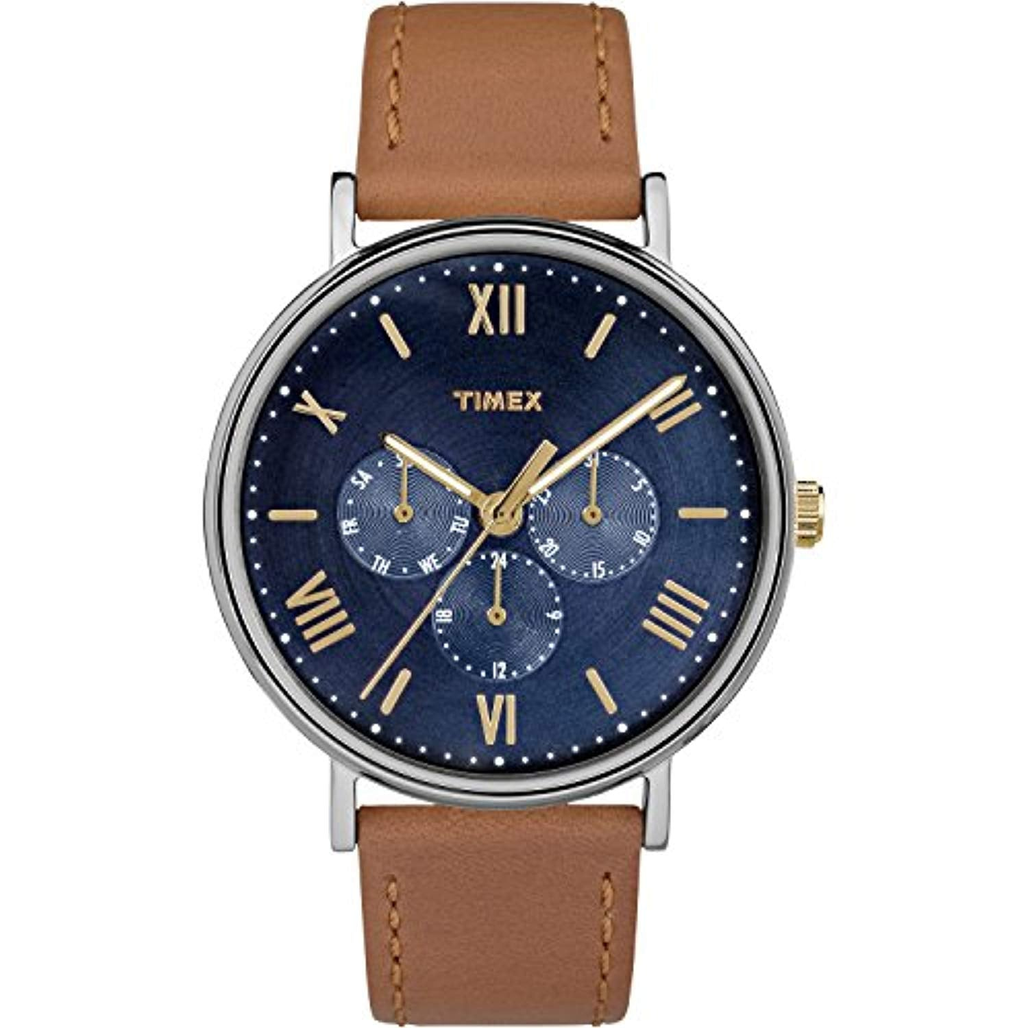 Timex Unisex Southview 41mm Multifunction Leather Strap Watch