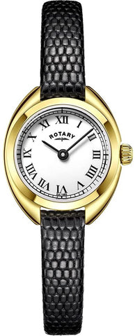 Rotary Womens Analogue Classic Quartz Watch with Leather Strap LS05015/11