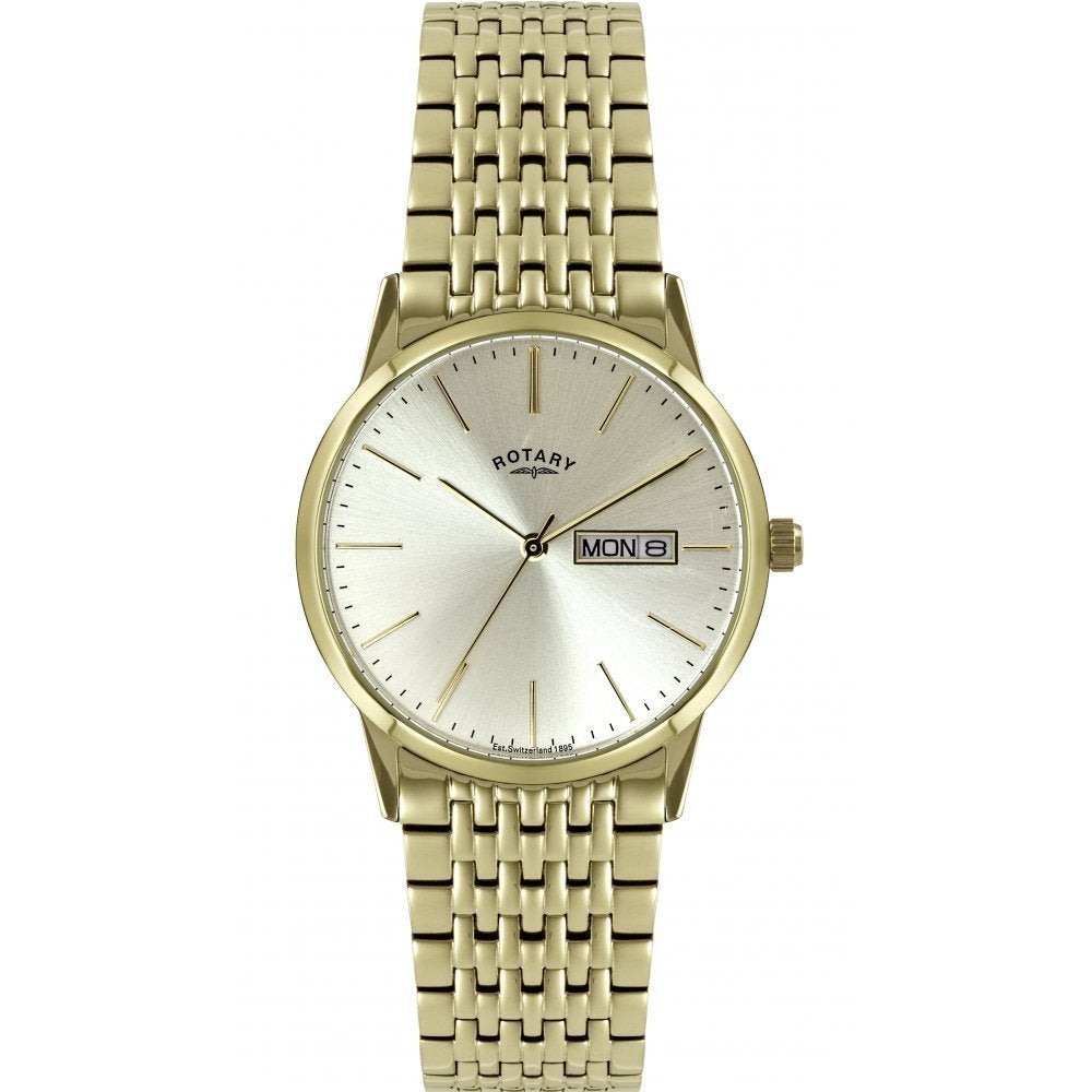 GB02753/03 Gents Stainless Steel and Gold Plated Rotary Watch