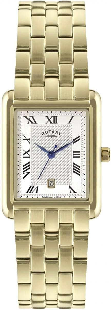 Mens Rotary Exclusive Watch GB00370/06. gold plated