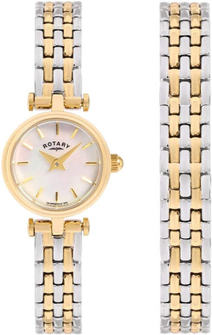 Rotary LB00173-BR-40S Ladies Watch and Bracelet Gift Set