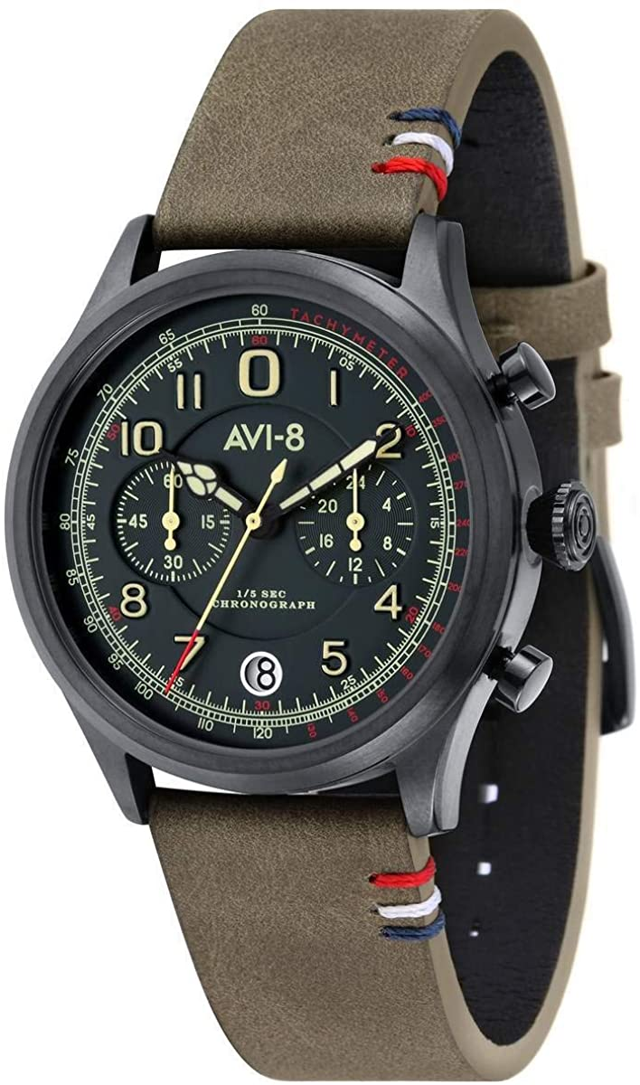 AVI-8 Mens Fly Boy Watch - Green/Dark Green
