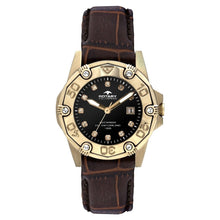Rotary Women's Quartz Watch with Brown Dial Analogue Display and Brown Leather Strap ALS00003/W/16