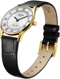 Rotary Womens Analogue Classic Quartz Watch with Leather Strap LS08303/01