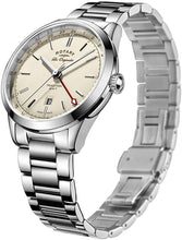 Rotary Men's Quartz Watch with Silver Dial Analogue Display and Silver Stainless Steel Bracelet GB90181/32