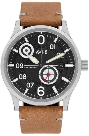 AVI-8 Men's Analog Japanese-Quartz Watch with Leather Strap AV-4060-01