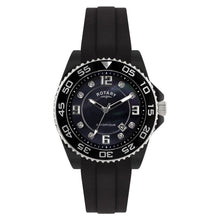 Rotary Unisex Quartz Watch with Black Dial Analogue Display and Black Rubber Strap CEBRS/37