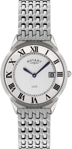 Rotary Men's Quartz Watch with Metal Strap GB08000/21