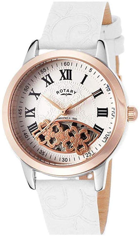 Rotary Ladies 'LS03732 34 mm Stainless Steel Case Leather Bracelet White – 2006