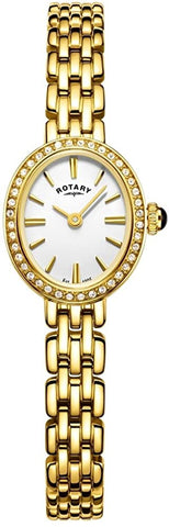 Rotary Womens Analogue Classic Quartz Watch with Stainless Steel Strap LB05051/02