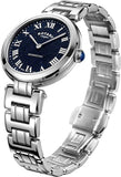 Rotary Womens Analogue Classic Quartz Watch with Stainless Steel Strap LB05190/67