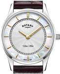 Rotary Womens Analogue Classic Quartz Watch with Leather Strap LS08300/02