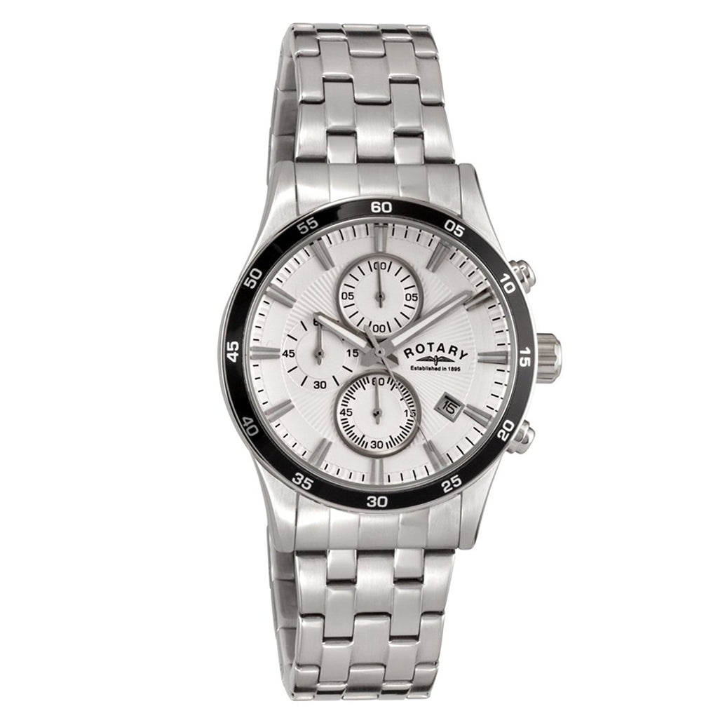 Mens Rotary chronograph date bracelet watch GB03636/06