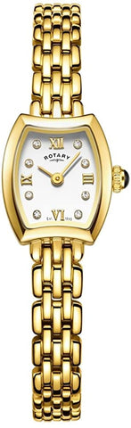 Rotary Womens Analogue Classic Quartz Watch with Stainless Steel Strap LB05055/01