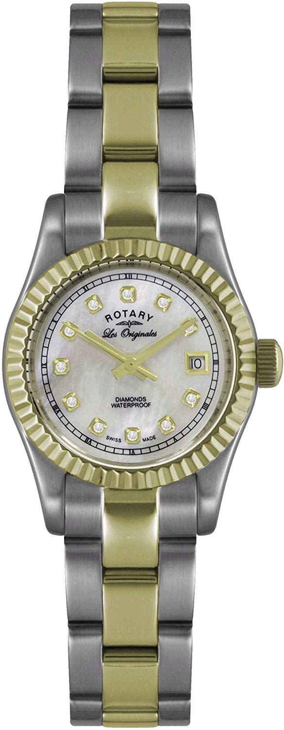 Rotary Ladies'Watch XS Analogue Quartz Stainless Steel Coated Ultra LB08151 / 41