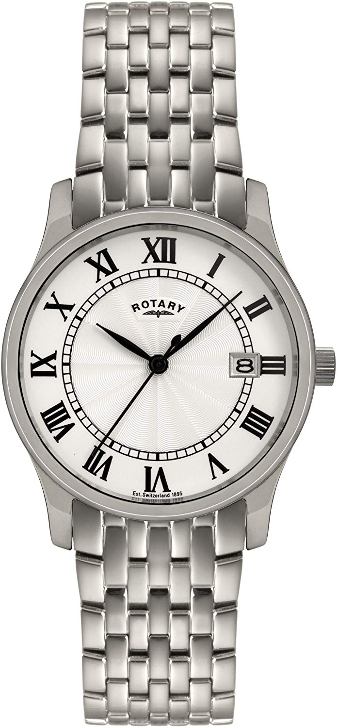 GB00792/21 Gents Stainless Steel Rotary Watch