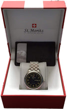 St. Moritz Men's Watch GS03610/31 Cream Dial Black Leather Strap 7411