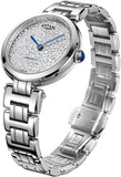 Rotary Womens Analogue Classic Quartz Watch with Stainless Steel Strap LB05190/33