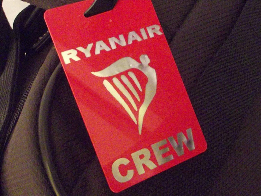 Novelty Luggage Crew Tags - Ryan Air Crew (Various Colours) -  Inflightgoods   - 1