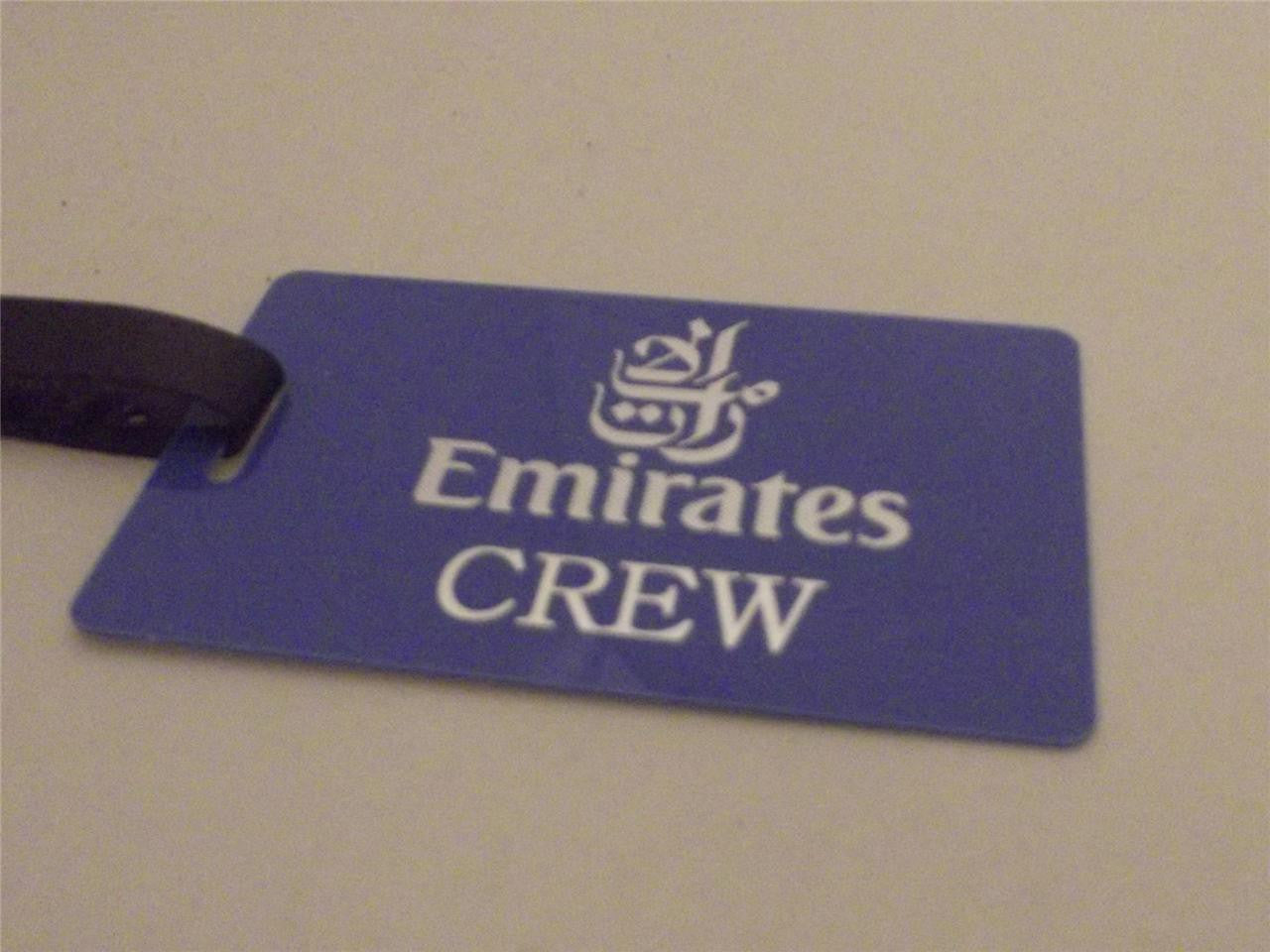 Novelty Luggage Crew Tags - Emirates Crew, Various Colours -  Inflightgoods   - 3