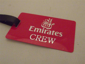 Novelty Luggage Crew Tags - Emirates Crew, Various Colours -  Inflightgoods   - 2
