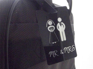 Novelty Luggage Crew/Wedding Tags - Mr & Mrs (Various Styles) -  Inflightgoods   - 4