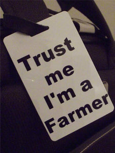 Novelty Luggage Crew Tags - Trust me, I'm A Farmer -  Inflightgoods