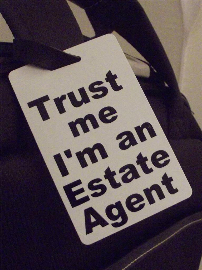 Novelty Luggage Crew Tags - Trust me, I'm An Estate Agent -  Inflightgoods