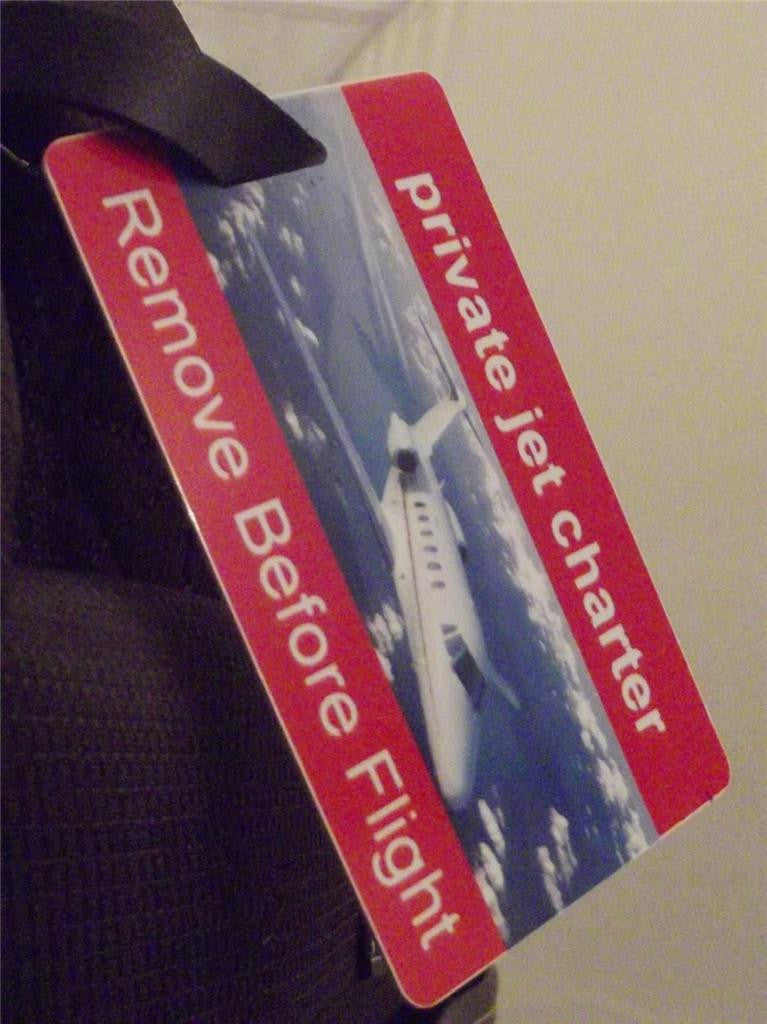 Novelty Luggage Crew Tags - Private Jet Charter - Remove Before Flight -  Inflightgoods