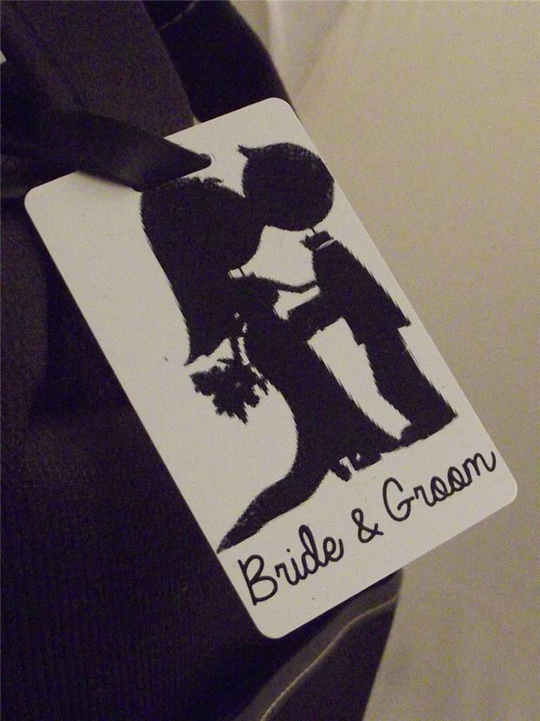 Novelty Luggage Crew Tags - Bride & Groom - Various Styles -  Inflightgoods   - 3
