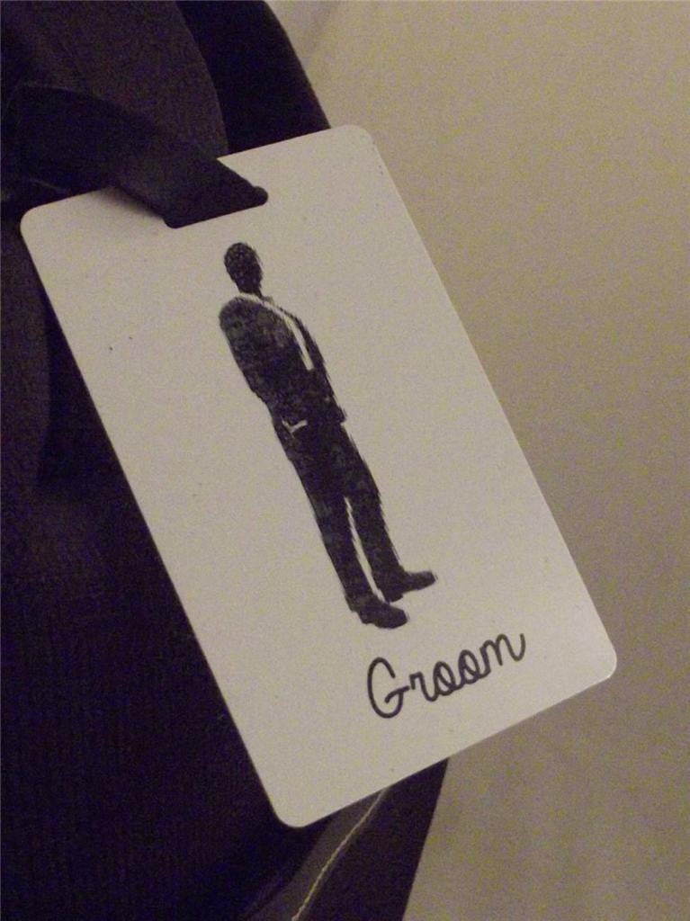 Novelty Luggage Crew Tags - Groom (Style 4) -  Inflightgoods