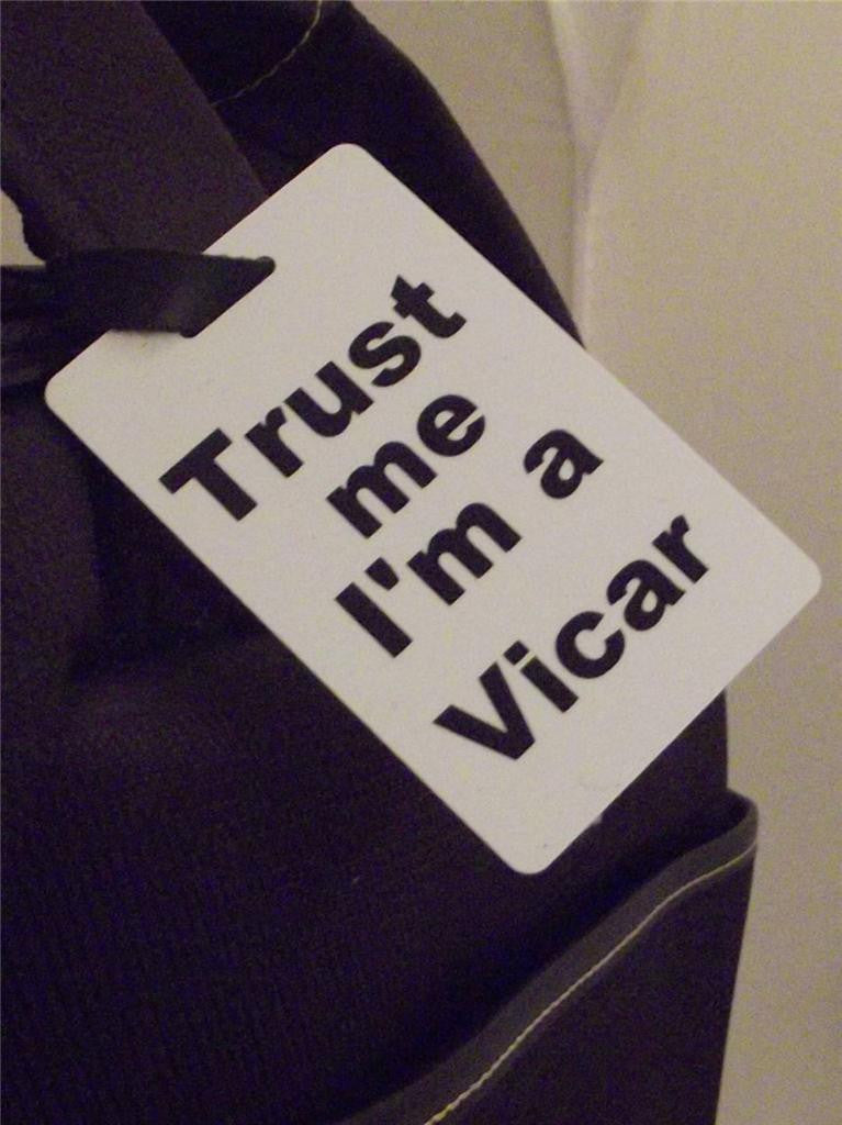 Novelty Luggage Crew Tags - Trust me, I'm A Vicar -  Inflightgoods