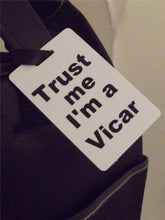 Novelty Luggage Crew Tags - Trust me, I'm A Vicar