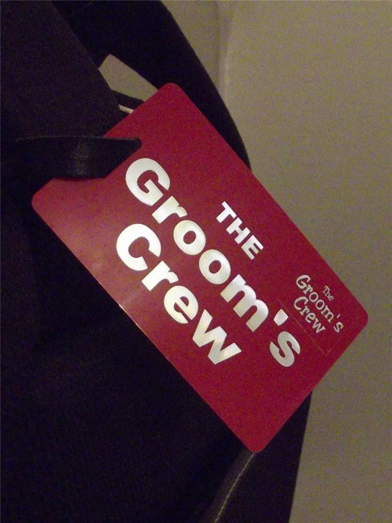 Novelty Luggage Crew Tags - The Groom's Crew -  Inflightgoods