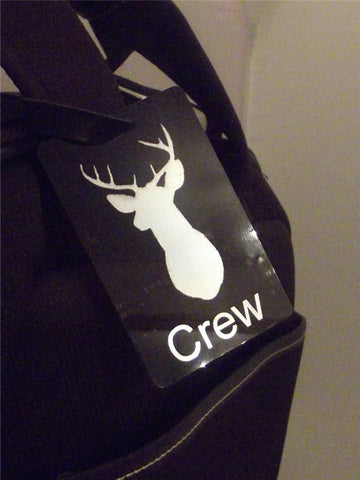 Novelty Luggage Crew Tags - Stag Crew (Stag Head) -  Inflightgoods